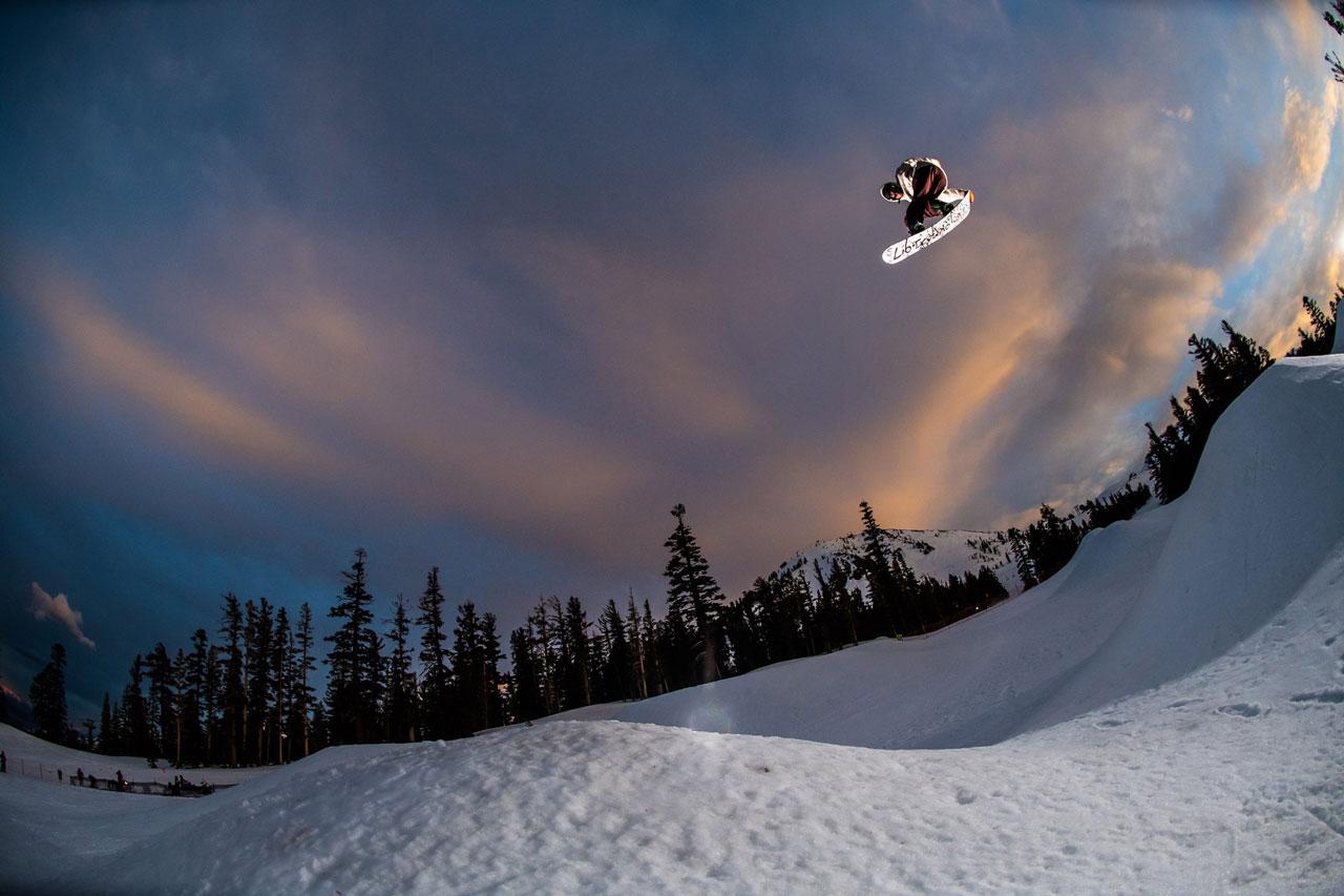 Brandon Reis on the Lib Tech Skate Banana snowboard