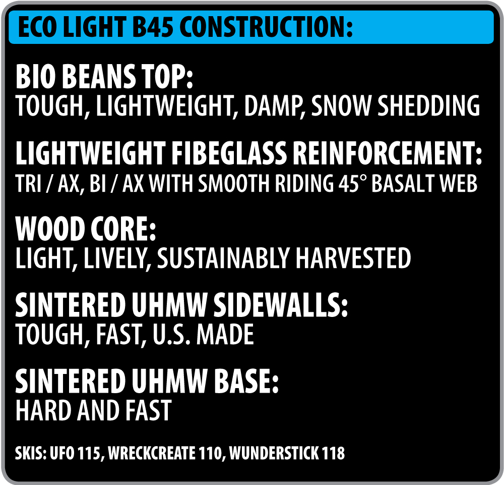 Lib Tech Ski Eco-Light B45 Construction