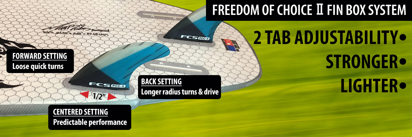 Freedom of Choice 2 fin box system