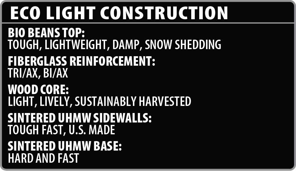 Lib Tech Ski Eco-Light Construction