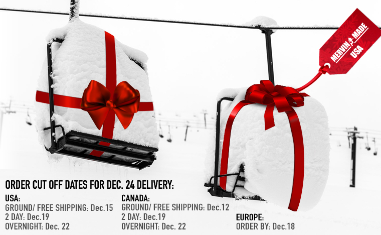 Christmas Shipping dates for Lib Tech Snowboards