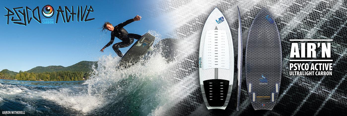 AARON'S SPEEDY, POPPY PRO WAKE SURF SHAPE IN PSYCO ACTIVE CONSTRUCTION