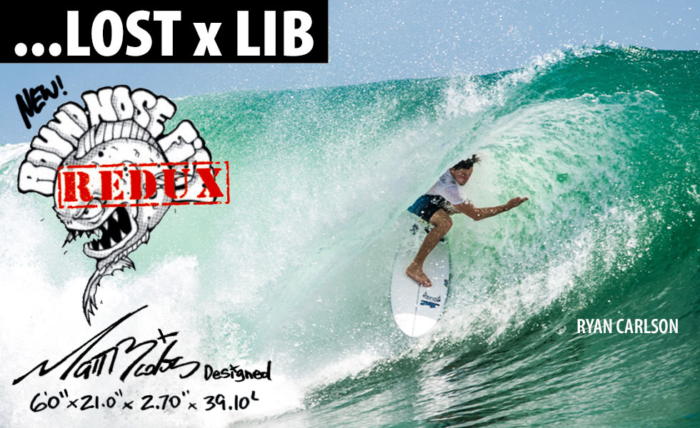 Lib X Lost Round Nose Fish surfboard