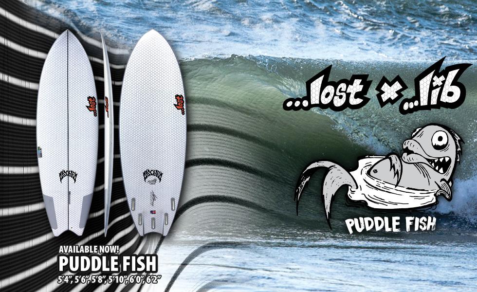 Lib Tech X Lost Puddle Fish surfboard